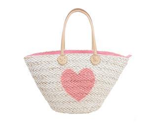 """Plážová taška """"Pink Heart"""", 18 x 50 x 30 cm"""