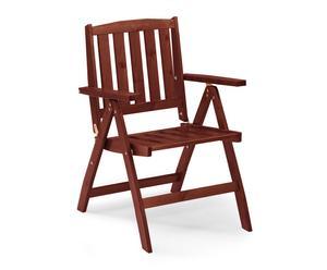 "Rozkladacia stolička ""Cecilia Low Mahogany"", 69 x 64 x 108 cm"