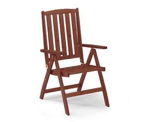 """Rozkladacia stolička """"Cecilia Walnut"""", 69 x 64 x 108 cm"""