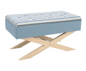 """Lavica s úložným priestorom """"Stripes Blue"""", 40 x 80 x 40 cm"""