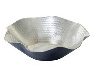 """Dekoračná misa """"Cairo Silver"""", ø 23, výš. 7 cm"""