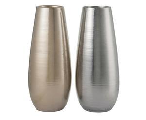 """Sada 2 váz """"La Rocque"""", Ø 22, výš. 51 cm"""