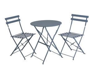 """Záhradný stolík so sadou 2 stoličiek """"Eunika Grey"""""""