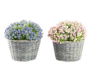 """Sada 2 kvetinových dekorácií """"Lino"""", ø 30, výš. 35 cm"""