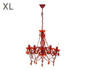 """Luster """"Versailles Red"""", ø 50, výš. 62 cm"""