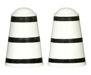 """Soľnička a korenička """"Stripe Black"""", ø 6, výš. 9 cm"""