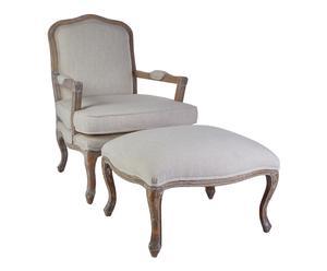 """Fotel z podnóżkeim """"Rococo"""""""