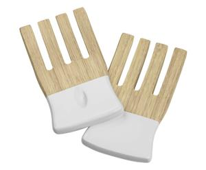 """Šalátový príbor """"Bamboo White"""", 9 x 17 x 1 cm"""