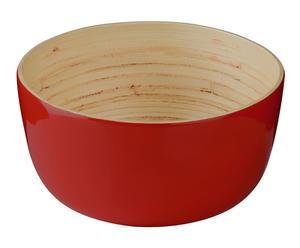 """Šalátová miska """"Bamboo Red"""", ø 24, výš. 12 cm"""