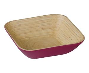 "Šalátová miska ""Bamboo Pink"", 25 x 25 x 7 cm"