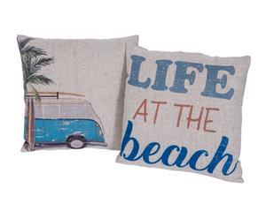 """Sada 2 vankúšov """"Beach"""", 45 x 45 cm"""