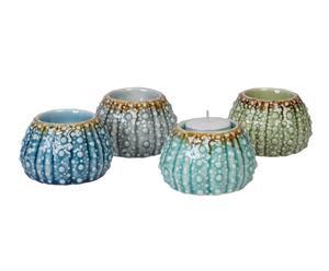 """Sada 4 svietnikov na čajové sviečky """"Oursin"""", ø 8, výš. 5 cm"""