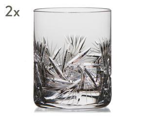 """Sada 2 pohárikov na whisky """"Porto"""", ø 8,5, výš. 10,5 cm"""