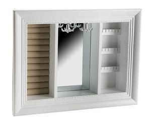 """Polica na bižutériu so zrkadlom """"Espojo"""", 4 x 40 x 30 cm"""