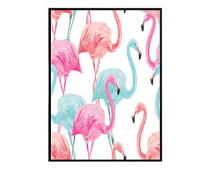 """Nástenná dekorácia """"Flamingos White """""""