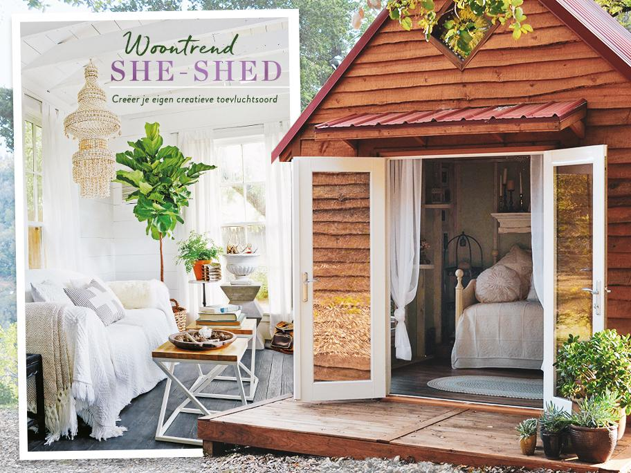 De she-shed als relax oord