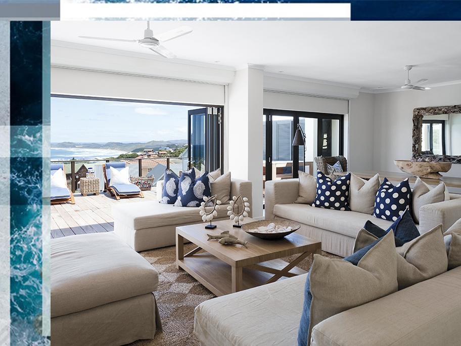 Une villa en bord de plage