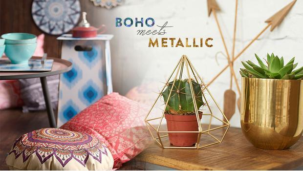 Boho & Metallic
