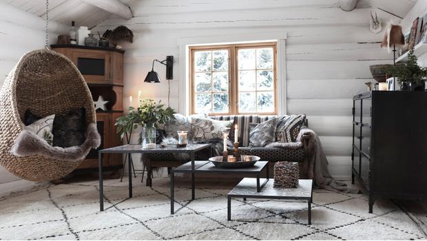 Norwegische Blockhütte