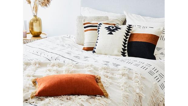 Natural Bedding & Boho-Muster