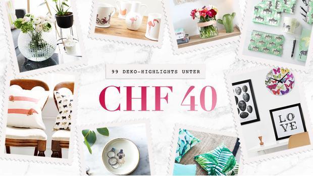 Deko-Highlights unter CHF 40