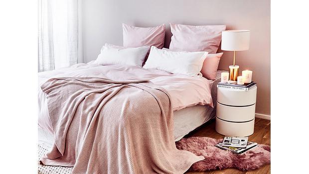 Bettwäsche in Basic-Farben