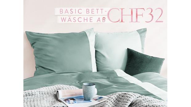 Basic-Bettwäsche ab CHF 32