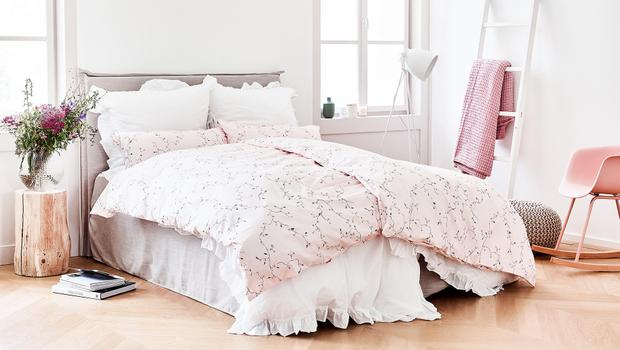 Bettwäsche in soften Tönen