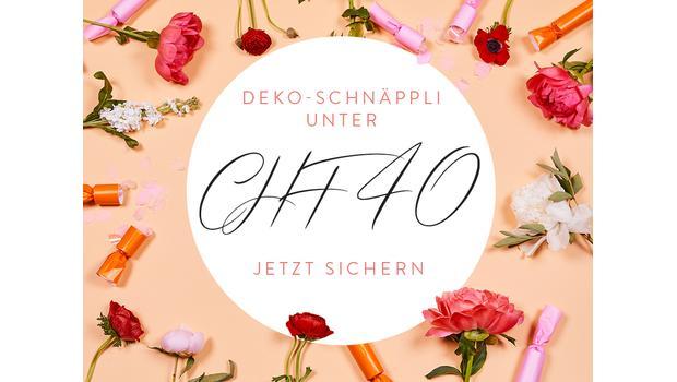 Deko-Schnäppli unter CHF 40