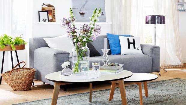 Nordic Style Furs Wohnzimmer Moderne Formen Softe Farben