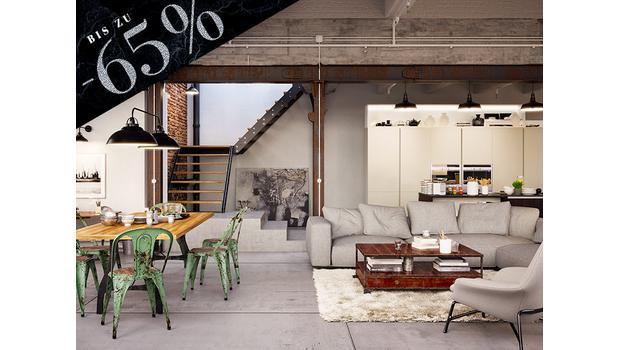 Interior im Industrial-Stil