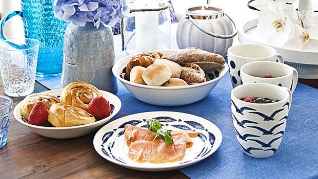 Blaues Wunder zu Tisch