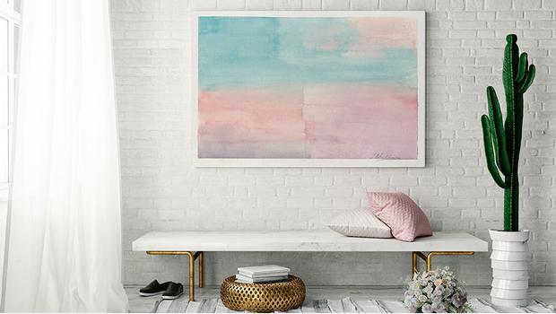Pastelové akvarelové obrazy