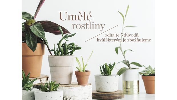 Trend: umělé rostliny