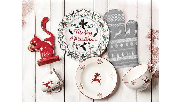 Stůl připravený na Vánoce