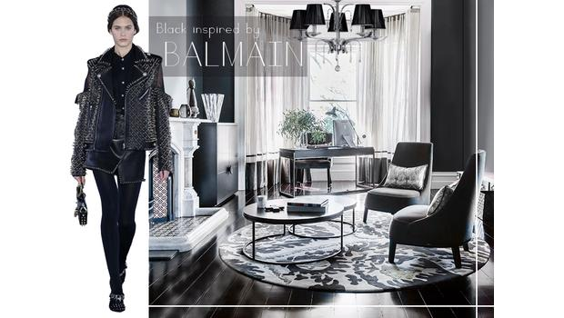 Black inspired by Balmain