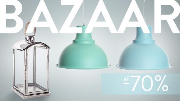 BAZAAR: lampy, lucerny, svícny