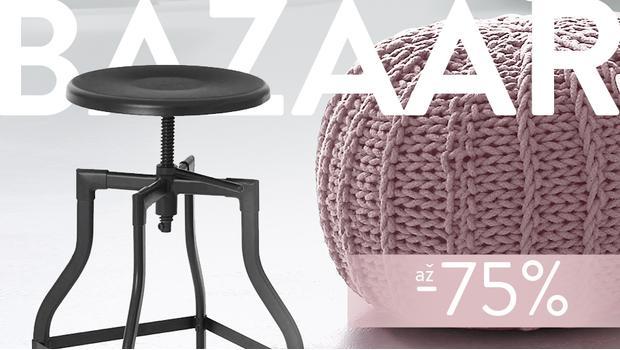 BAZAAR: stoličky, pufy, lavice