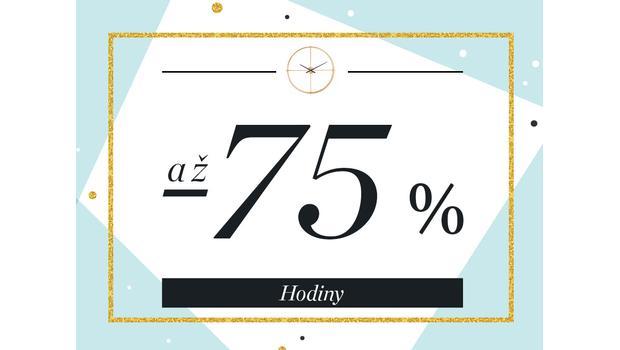 Hodiny až -75 %