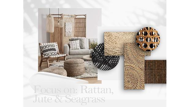 Ratan, juta, mořská tráva