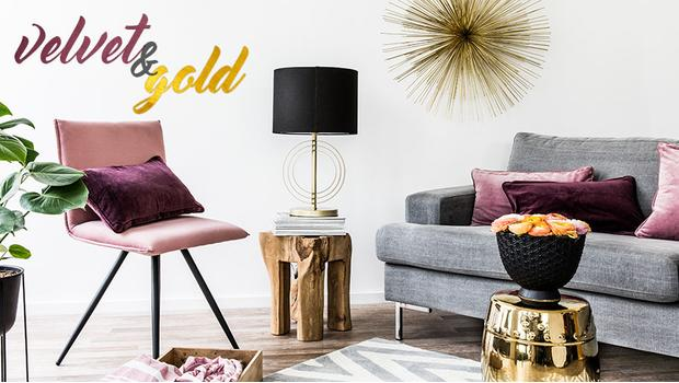 Elegance sametu a zlata