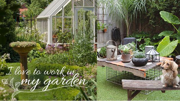 I love (to work in) my garden