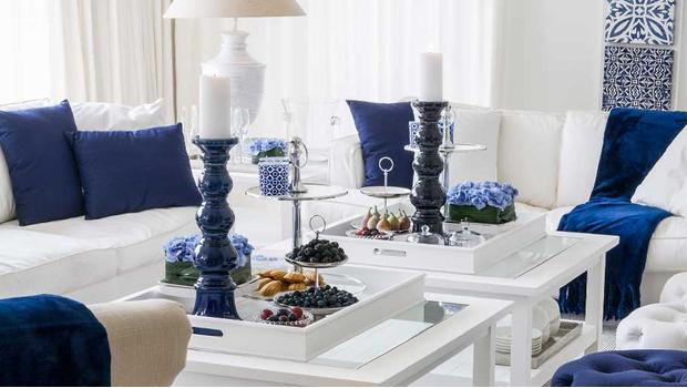 Rhapsody: blue, silver & white