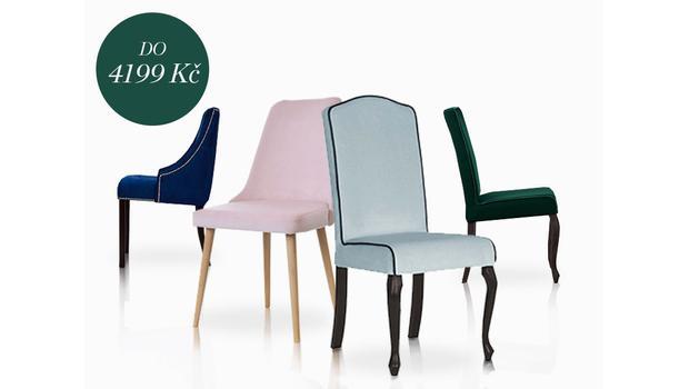 Čalouněné židle do 4199 Kč