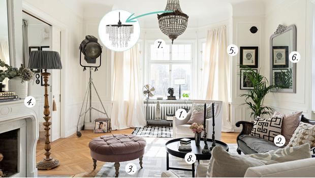 Obývací pokoj classic eclectic