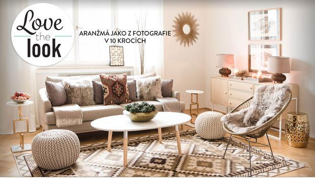 Obývací pokoj ve stylu etno