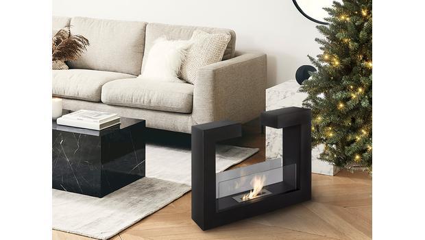 Modern Fireplace Evening