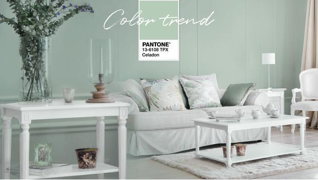 Celadon - barva Pantone 2018