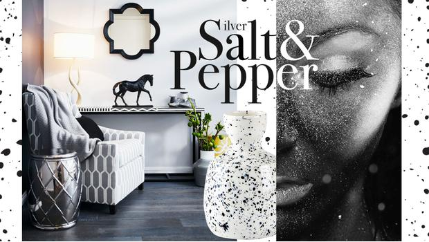 Silver, salt & pepper