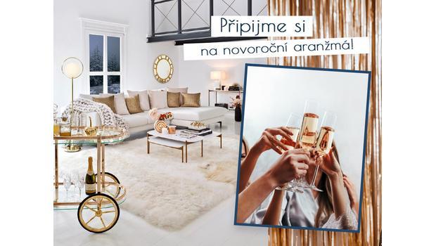 Interiér v barvě šampaňského